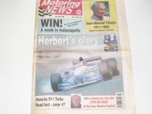 MOTORING NEWS 1995 July 19 British GP, Fangio obit. BTCC, F3, Vatanen